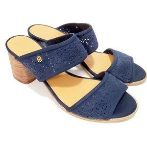 Tommy Hilfiger Gold Logo Navy Blue Sandals
